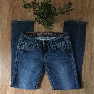 Rock Revival Pat Straight Blue Jeans